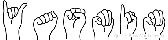 Yasmin im Fingeralphabet der Deutschen Gebärdensprache