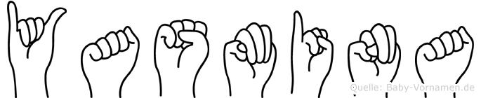 Yasmina im Fingeralphabet der Deutschen Gebärdensprache