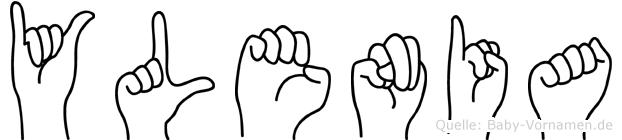 Ylenia in Fingersprache für Gehörlose