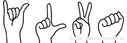 Ylva im Fingeralphabet der Deutschen Gebärdensprache