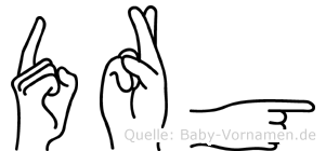 Dörg in Fingersprache für Gehörlose