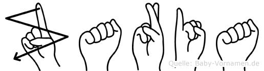 Zaria im Fingeralphabet der Deutschen Gebärdensprache