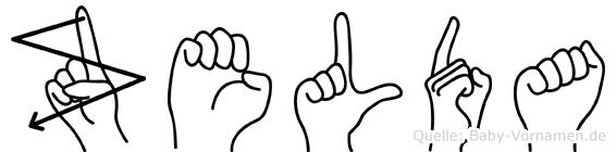 Zelda in Fingersprache für Gehörlose