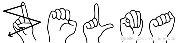 Zelma im Fingeralphabet der Deutschen Gebärdensprache