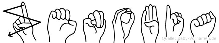 Zenobia im Fingeralphabet der Deutschen Gebärdensprache