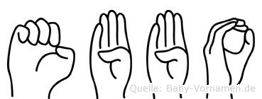Ebbo in Fingersprache für Gehörlose