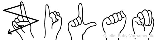Zilan in Fingersprache für Gehörlose