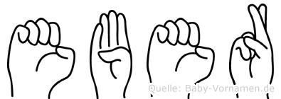 Eber in Fingersprache für Gehörlose