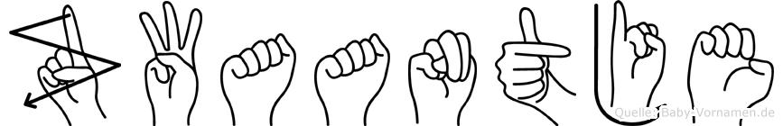 Zwaantje im Fingeralphabet der Deutschen Gebärdensprache