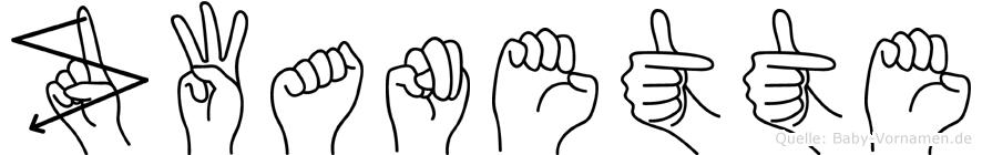 Zwanette in Fingersprache für Gehörlose