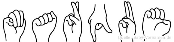 Marque im Fingeralphabet der Deutschen Gebärdensprache