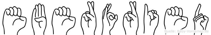 Eberfried im Fingeralphabet der Deutschen Gebärdensprache