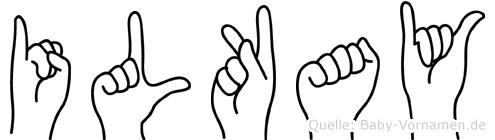 Ilkay im Fingeralphabet der Deutschen Gebärdensprache