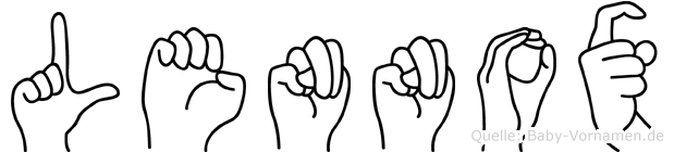 Lennox in Fingersprache für Gehörlose