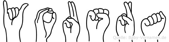 Yousra im Fingeralphabet der Deutschen Gebärdensprache