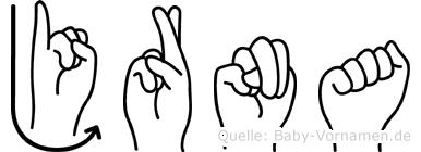 Jörna in Fingersprache für Gehörlose