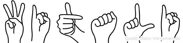 Witali im Fingeralphabet der Deutschen Gebärdensprache