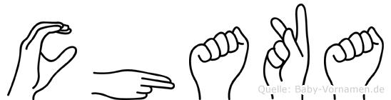 Chaka im Fingeralphabet der Deutschen Gebärdensprache