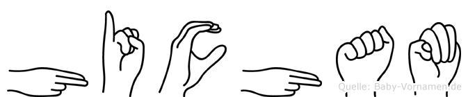 Hicham im Fingeralphabet der Deutschen Gebärdensprache