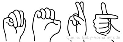 Mert im Fingeralphabet der Deutschen Gebärdensprache