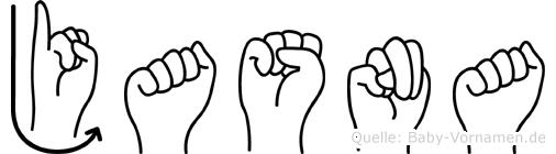 Jasna im Fingeralphabet der Deutschen Gebärdensprache
