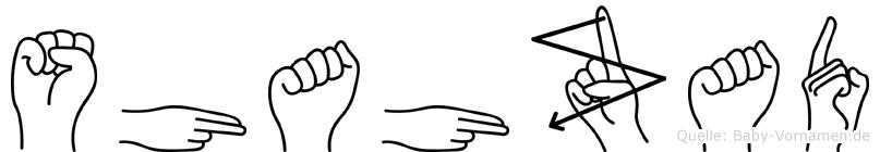 Shahzad im Fingeralphabet der Deutschen Gebärdensprache