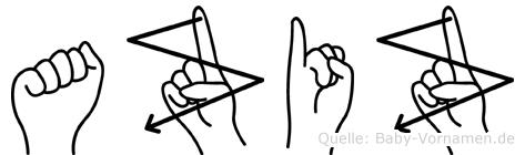 Aziz in Fingersprache für Gehörlose