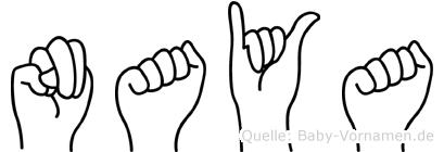 Naya im Fingeralphabet der Deutschen Gebärdensprache