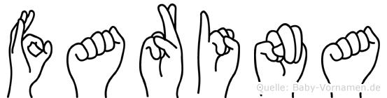 Farina in Fingersprache für Gehörlose