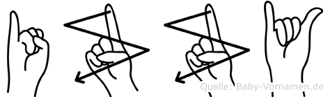Izzy in Fingersprache für Gehörlose