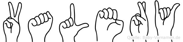 Valery in Fingersprache für Gehörlose