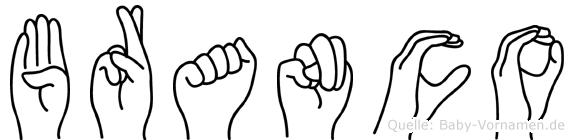 Branco in Fingersprache für Gehörlose