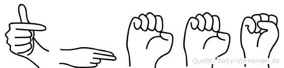 Thees im Fingeralphabet der Deutschen Gebärdensprache