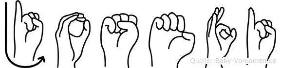 Josefi in Fingersprache für Gehörlose