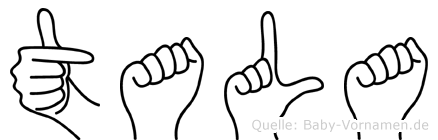 Tala im Fingeralphabet der Deutschen Gebärdensprache