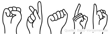 Skadi in Fingersprache für Gehörlose