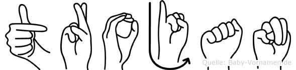 Trojan in Fingersprache für Gehörlose