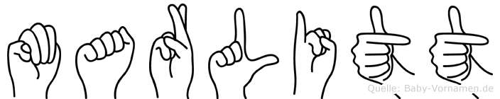 Marlitt im Fingeralphabet der Deutschen Gebärdensprache