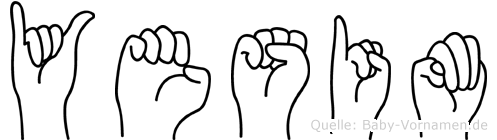 Yesim im Fingeralphabet der Deutschen Gebärdensprache