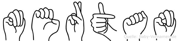 Mertan im Fingeralphabet der Deutschen Gebärdensprache