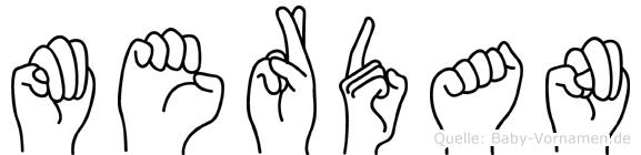 Merdan im Fingeralphabet der Deutschen Gebärdensprache