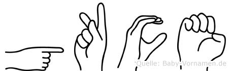 Gökce in Fingersprache für Gehörlose
