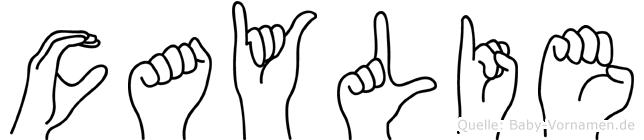 Caylie in Fingersprache für Gehörlose