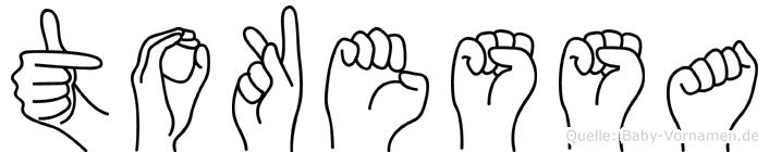 Tokessa in Fingersprache für Gehörlose