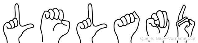 Leland in Fingersprache für Gehörlose