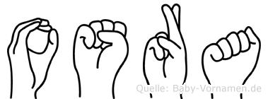 Osra im Fingeralphabet der Deutschen Gebärdensprache