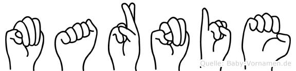 Marnie in Fingersprache für Gehörlose