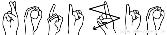 Rodizio in Fingersprache für Gehörlose