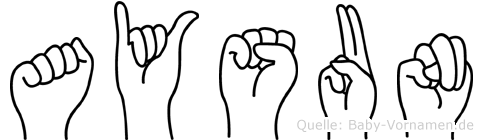 Aysun im Fingeralphabet der Deutschen Gebärdensprache