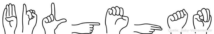 Bilgehan im Fingeralphabet der Deutschen Gebärdensprache